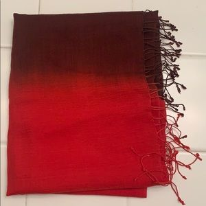 Chico's Red & Maroon Hombre Scarf